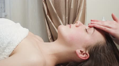 Video of woman gets a skin care course in salon Stock Footage