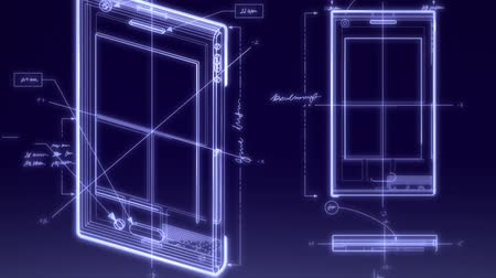 elektronika : Smartphone Technical Design Animation