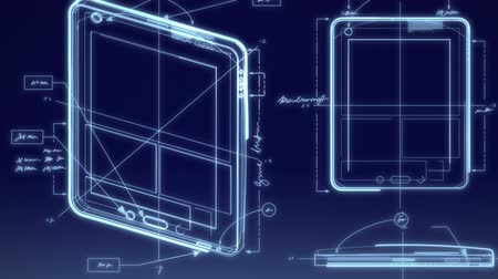 свечение : Tablet Computer Technical Design Animation
