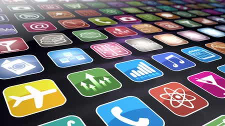 hátterekkel : Mobile Apps Seamless Background Loop Stock mozgókép