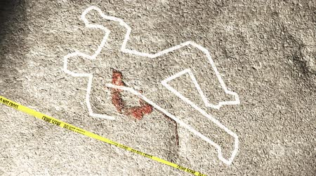 fatality : Crime Scene Investigation Zoom Out Stock Footage