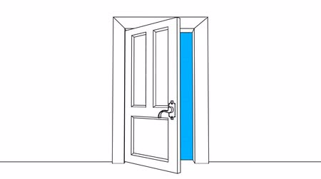 drzwi : Sketched Door Opens: Making Opportunities Happen Wideo