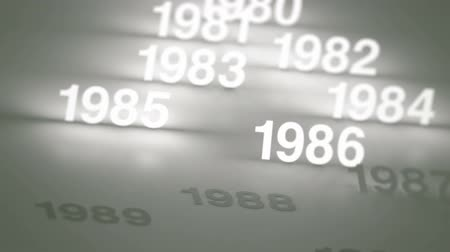 timeline : Glowing Numbers Timeline: 1970s, 1980s and 1990s
