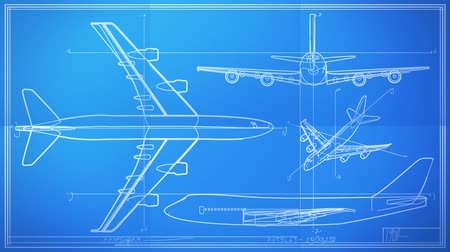 blueprint : Aircraft Technical Drawing Blueprint Time Lapse