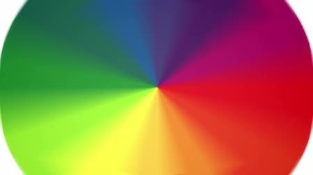 wielen : Spinning Color Wheel (Bevat Looping Sectie) Stockvideo