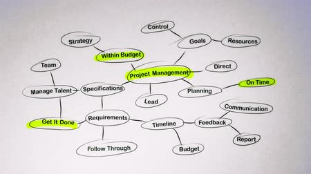 zarządzanie : Project Management Brainstorming Mind Map
