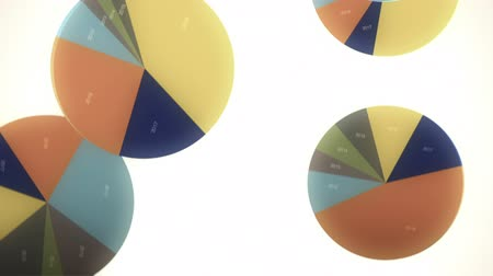 graph : Falling, Bouncing Pie Charts in Slow Motion
