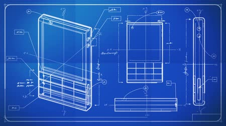 blueprint : Classic Smartphone Technical Drawing Blueprint