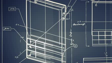 blueprint : Classic Smartphone Blueprint Smooth Camera Pan and Zoom Stock Footage