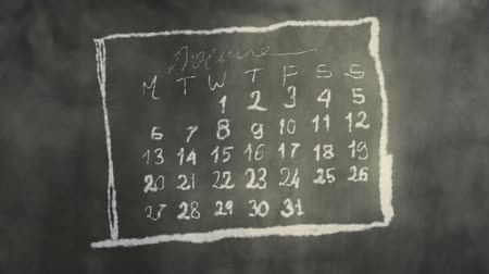dígitos : Calendar Month Page Scribbling on a Chalkboard