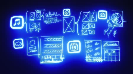 gelişme : Mobile App Wireframing, Prototyping (Neon Blueprint)
