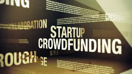 finansman : Crowdfunding Related Terms Stok Video