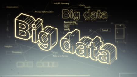 nube de palabras : Big Data Archivo de Video