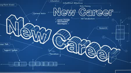 career success : Blueprint for a New Career Stock Footage