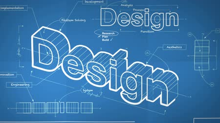 иллюстрация : A Blueprint for Design Стоковые видеозаписи