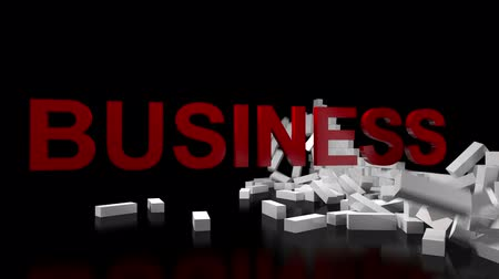 Business Broken Wall Stock Footage
