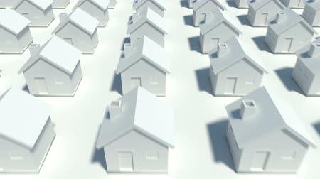 Hundreds of houses in various row  Stock Footage
