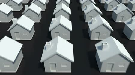 architektura : Hundreds of houses in various row  Wideo
