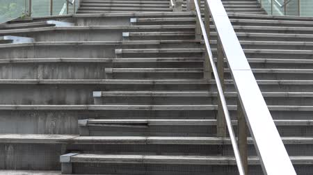 stair : The skywalk and stairs on the square. Public facilities in Asia. Stock Footage