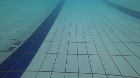 medal : The view of swimming pool. Under water Stock Footage