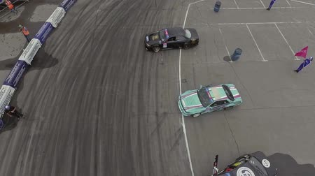 racers : top aerial view playground for open drifting