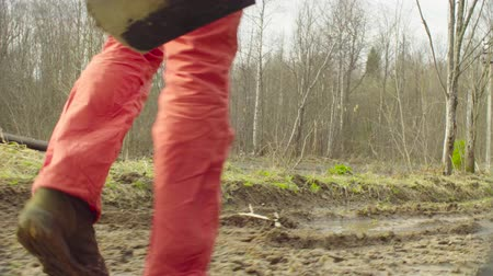 naturalist : The ecologist going to the place of research. Stock Footage