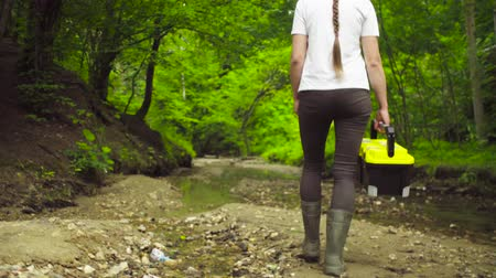 conservationist : The ecologist going to the place of research. Stock Footage
