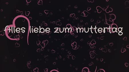 mama : Animation Alles liebe zum muttertag, Happy Mothers day in german language, greeting card