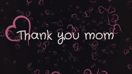 şükran : Animation Thank you mom, mothers day, greeting card Stok Video
