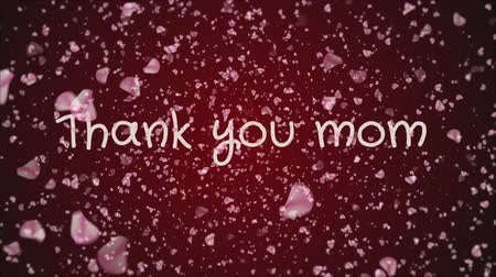 mama : Animation Thank you mom, mothers day, greeting card Stock Footage