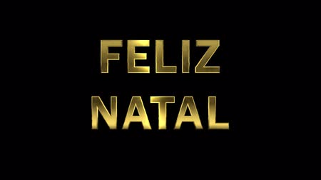 natal : Particles collecting in the golden letters - Feliz Natal