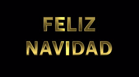 collected : Particles collecting in the golden letters - Feliz Navidad
