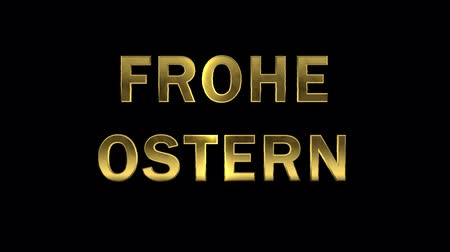 collected : Particles collecting in the golden letters - Frohe Ostern