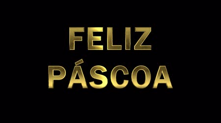 collected : Particles collecting in the golden letters - Feliz Pascoa