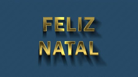 natal : Colored particles turn into blue background and text - Feliz Natal