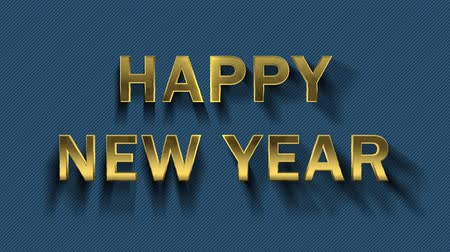 collected : Colored particles turn into blue background and text - Happy New Year Stock Footage