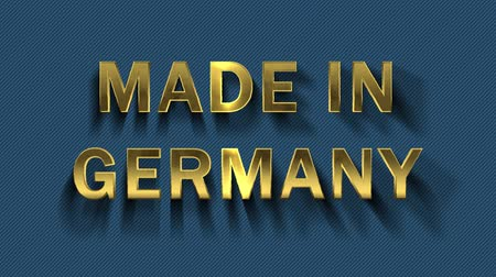 collected : Gold letters collecting from particles- Made in Germany Stock Footage