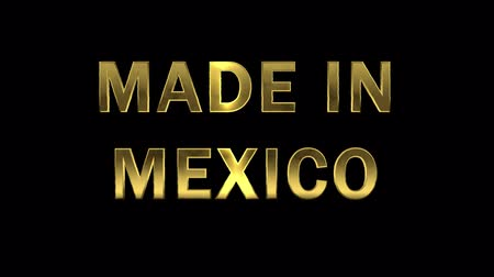 collected : Gold letters collecting from particles - Made in Mexico Stock Footage