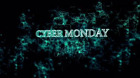 segunda feira : Rotating electronic network with Cyber Monday text