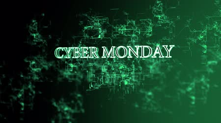 hétfő : Rotating electronic network with Cyber Monday text