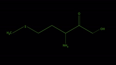vzorec : Animation - chemical formula of Vitamin U