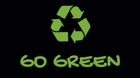 salva vidas : Animated recycling logo with green slogan - Go Green