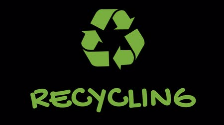 salva vidas : Animated recycling logo with green slogan - Recycling
