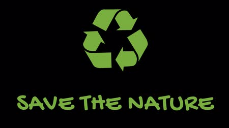 szlogen : Animated recycling logo with green slogan - Save The Nature