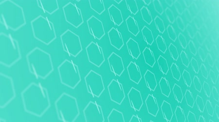 büyütmek : 3D animation background with hexagon and lines