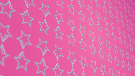 büyütmek : 3D animation background with stars and lines Stok Video