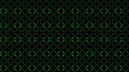dark green : Animation background with hexagon and lines