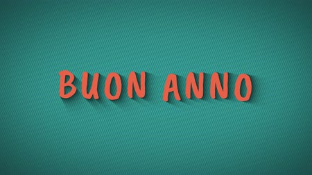 congratulating : Animated bouncing letters Buon Anno