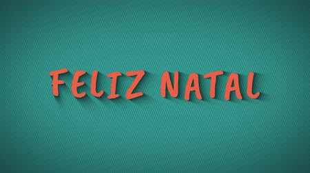 natal : Animated bouncing letters Feliz Natal Stock Footage