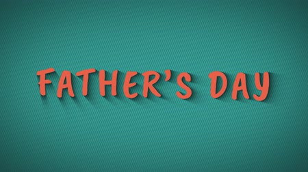 happy holidays : Animated bouncing letters Fathers Day Stock Footage
